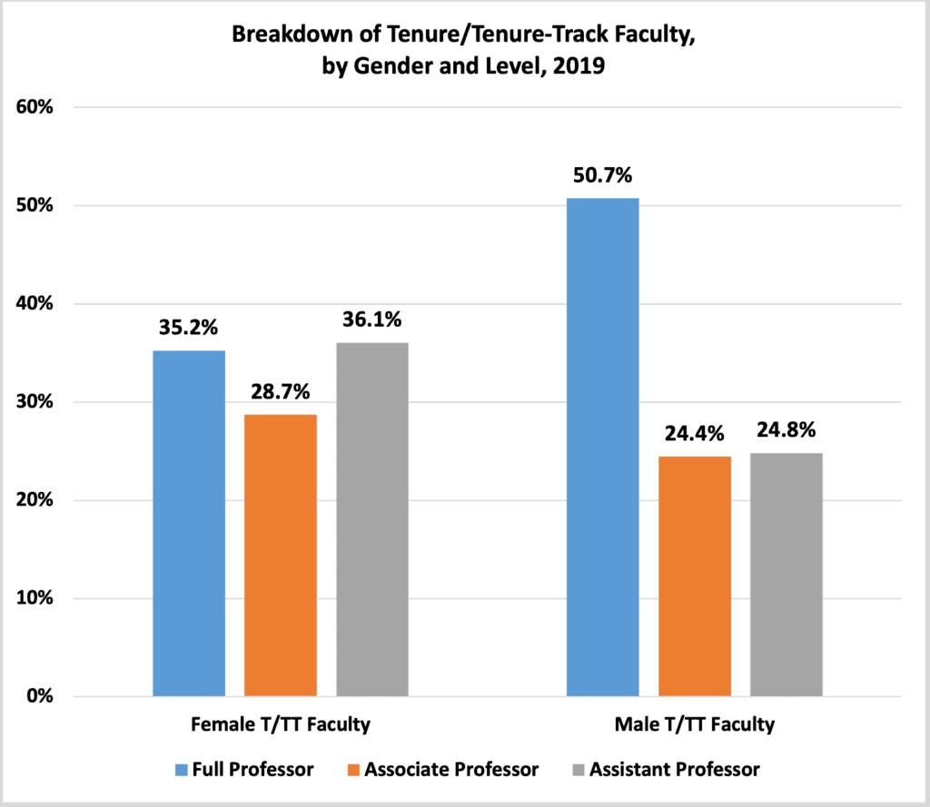 Tenure TenureTrack Faculty by Gender