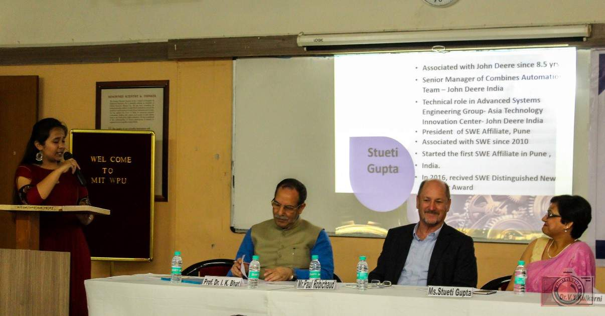 title Inaugurating the SWE India MIT-WPU Affiliate - A Photo Diary -