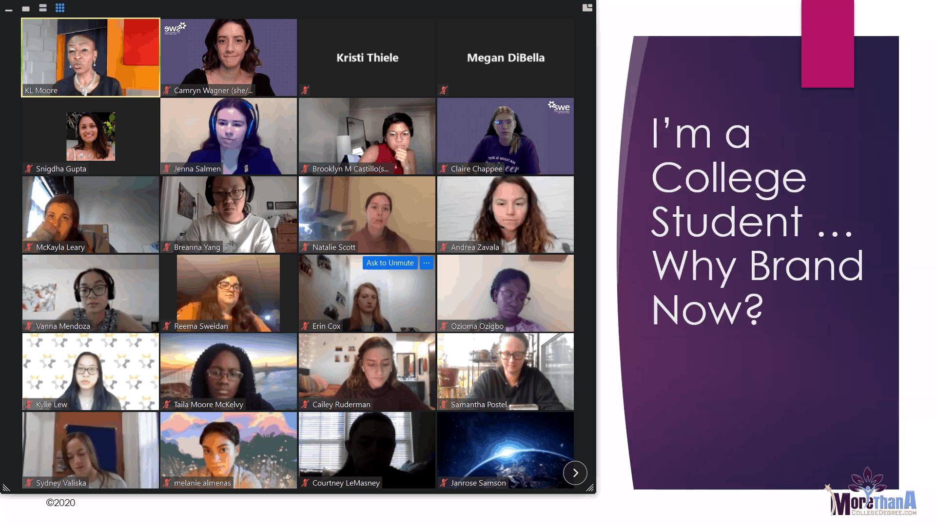 The virtual CLI cohort in November 2020.