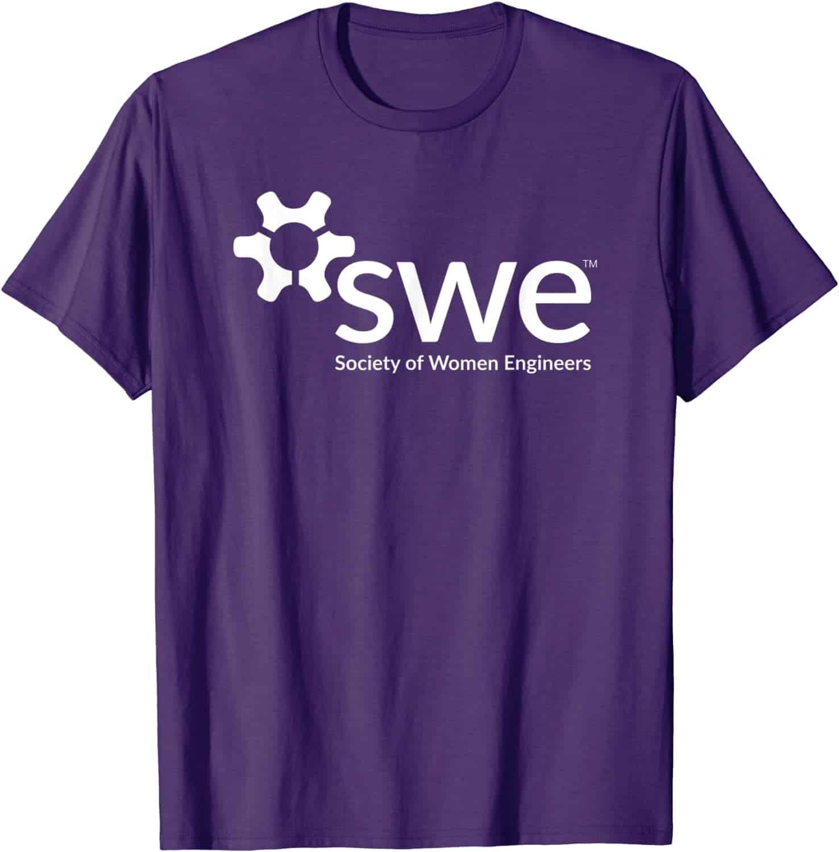 Society of Women Engineers - White Logo - Standard T-Shirt2