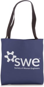 Society of Women Engineers - White Logo - Tote Bag