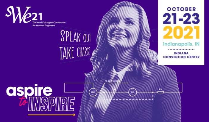 WE21 aspire to inspire graphic